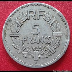 5 francs 1945 B - ALU