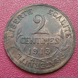 2 centimes 1913