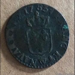 1783 W - Liard à l'écu
