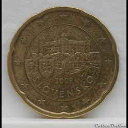 Slovaquie - 2009 - 20 cents