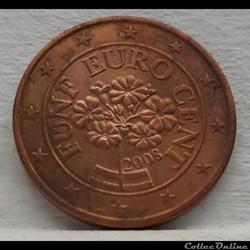 Autriche - 2008 - 5 cents