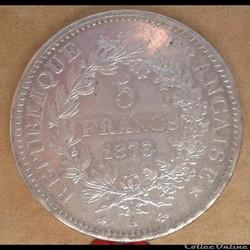 5 francs 1873 A