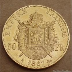 50 francs 1867 A