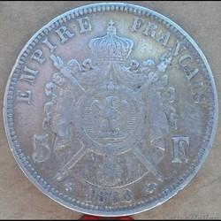 5 Francs 1868 BB