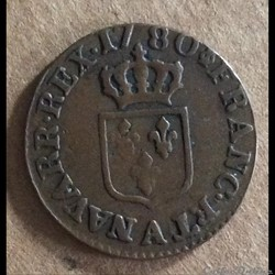 1780 A - Liard à l'écu