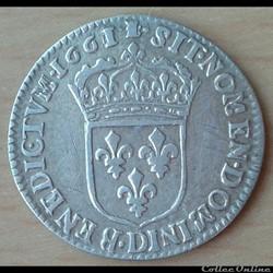 1661 D - 1/12ème écu