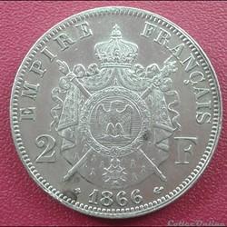2 francs 1866 BB