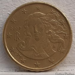 Italie - 2007 - 10 cents