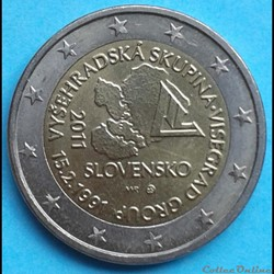 Slovaquie - 2011 - 2 euros Groupe Visegrad