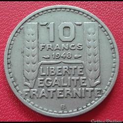 10 francs 1948 B - Petite tête - B proch...