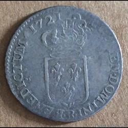Louis XV - 1/6ème écu au grand écusson d...