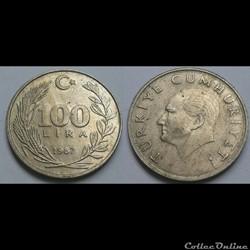 Turquie - 100 bin lira 1987