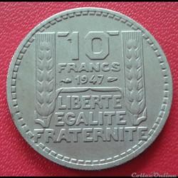 10 francs 1947 - Petite tête
