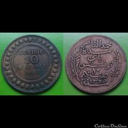 Tunisie - 10 centimes 1907