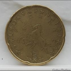 Slovénie - 2007 - 20 cents