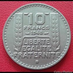 10 francs 1948 B - Petite tête