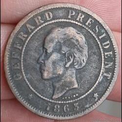 Haïti - 20 centimes 1863
