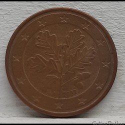 Allemagne - 2002 - A - 5 cents