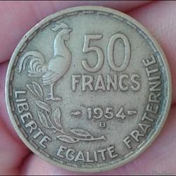 50 francs 1954 B