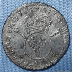 Louis XIV - 1/12ème d'écu aux insignes 1...