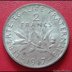 2 francs 1917