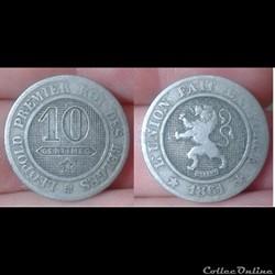 Belgique - 10 centimes 1861