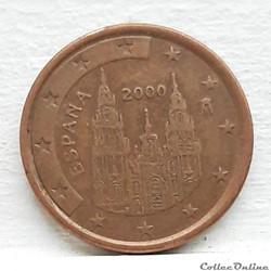 Espagne - 2000 - 5 cents