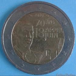 France - 2010 - 2 euros Appel du 18 Juin