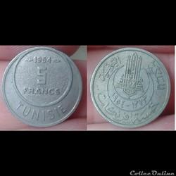 Tunisie - 5 francs 1954