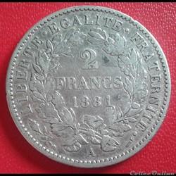 2 francs 1881 A