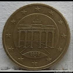 Allemagne - 2002 - D - 50 cents