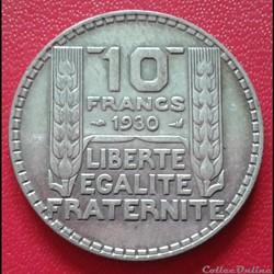 10 francs 1930