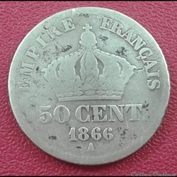 50 centimes 1866 A