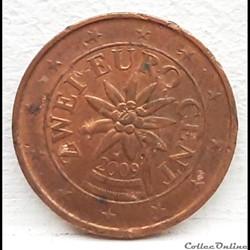 Autriche - 2009 - 2 cents