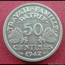 50 centimes 1942