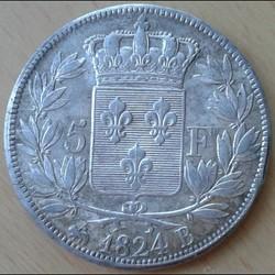 Louis XVIII - 5 francs 1824