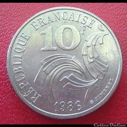 10 francs 1986 Jimenez
