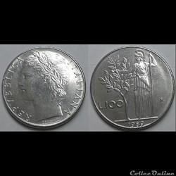 Italie - 100 lires 1989