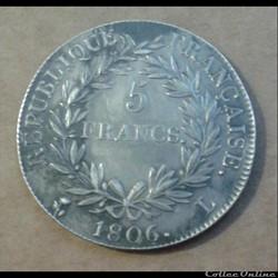 5 Francs 1806 L
