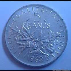 5 francs 1962