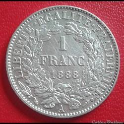1 FRANC 1888 A