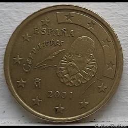 Espagne - 2001 - 50 cents
