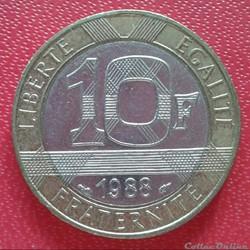 10 francs génie 1988