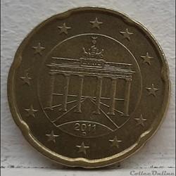 Allemagne - 2011 - D - 20 cents