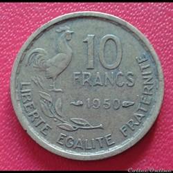 10 francs 1950