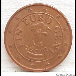 Autriche - 2002 - 1 cent