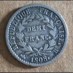 Napoléon - 1/2 Franc 1808