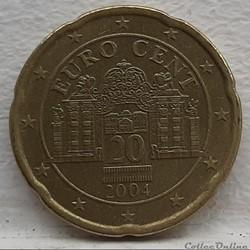 Autriche - 2004 - 20 cents