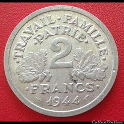 2 francs 1944 B