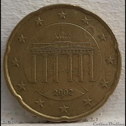 Allemagne - 2002 - F - 20 cents